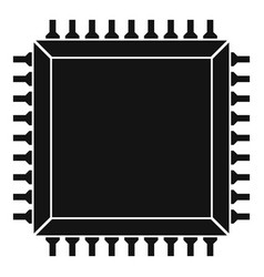Computer microchip icon simple vector