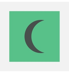 crescent icon vector image