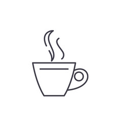 cup of tea line icon concept cup of tea vector image