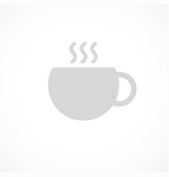 cup of tea or coffee icon drawn by single vector image