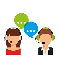 customer service vector image