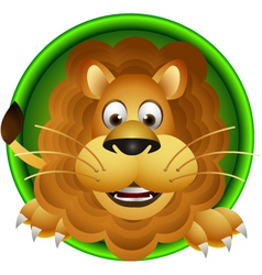 Cute lion head cartoon vector