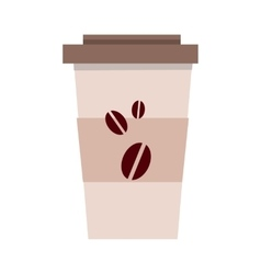 Disposable Plastic Coffee Cup Template Isolated vector image vector image