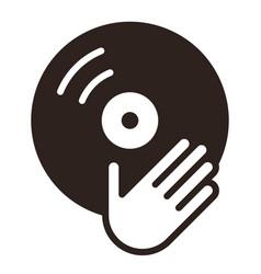 dj icon vinyl player icon vector image