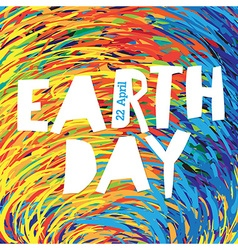 Earth day logo 22 april text grunge texture in vector