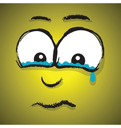 emotions yellow crying vector image