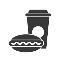 Fast food set food and beverage set glyph design vector