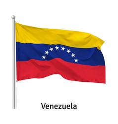 Flag republic venezuela vector