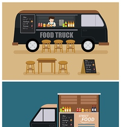 food truck flat design vector image