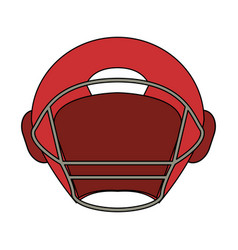 Football helmet design vector