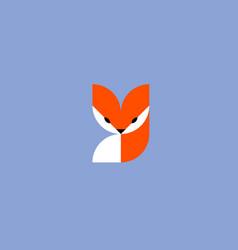Fox logo mark template or icon vector