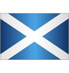 grunge flag of scotland vector image
