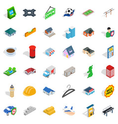 Hail icons set isometric style vector