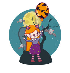 Halloween kids cartoons vector