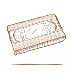 Hand drawn video tape vector