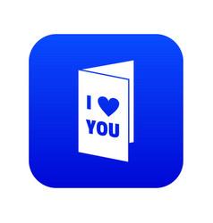 Happy valentines day or weeding card icon digital vector