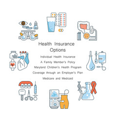 health insurance concept for web banner vector image