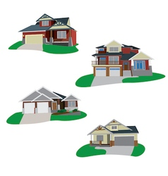 Houses set 2 vector