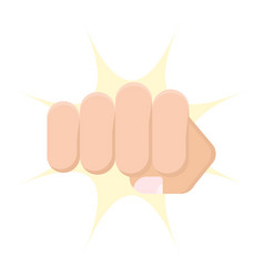 human fist punch icon flat design vector image
