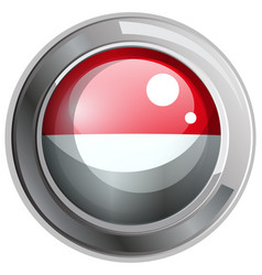 indonesia flag in round frame vector image