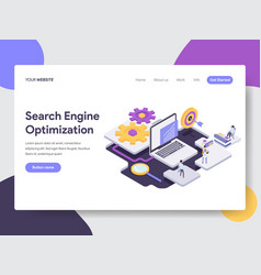 Landing page template of search engine vector