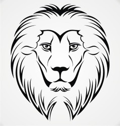 Lion Head Tattoo Design vector