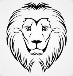 Lion head tattoo design vector