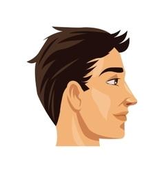 Man head profile design vector