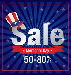 Memorial day sale vector