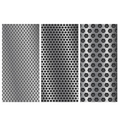 metal perforated backgrounds brochure design vector image