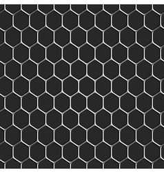 Monochromatic honeycomb seamless pattern vector image