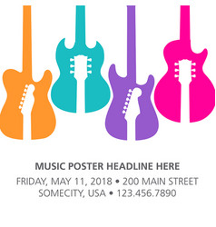 Music concert poster layout template vector