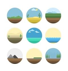 Nature background set vector image