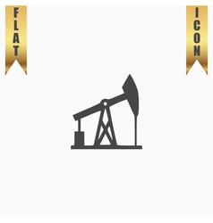 Oil derrick icon vector