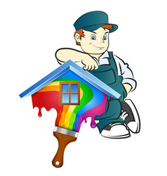 Painter for painting at home vector