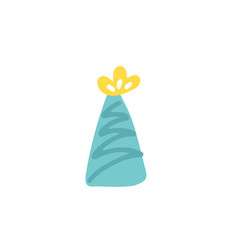 party hat isolated flat hand drawn symbol vector image