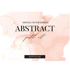 Pastel soft rose and pink brush strokes marble vector