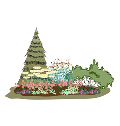 picturesque island of flowers vector image