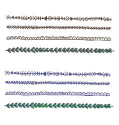 Plait and braids isolated on white background set vector