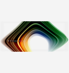 rainbow fluid colors abstract background twisted vector image