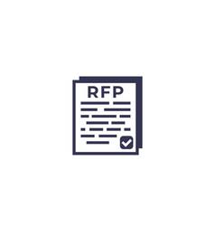 Rfp icon vector