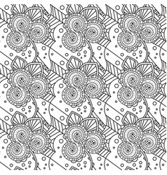 Seamless black and white pattern zentangle design vector