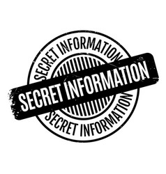 Secret information rubber stamp vector