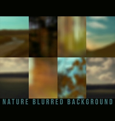 Set of blurred backgrounds nature vector