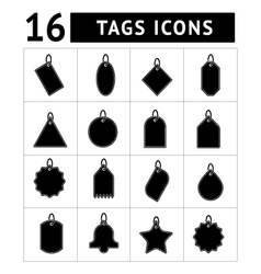 Set of tags icons vector
