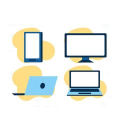 set technology gadgets vector image