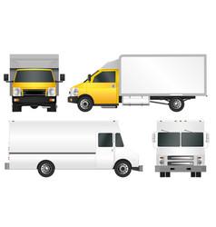 Set truck template cargo van vector