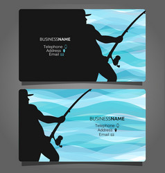Shop fishing business card vector
