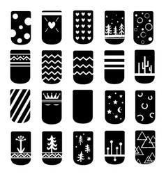 simple but cute ideas for nail art design vector image