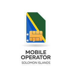Solomon islands mobile operator sim card with vector